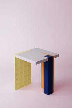 Colourful Geometric Small Furniture Pieces by Antwerp-based Nortstudio Den Furniture, Small Furniture, French Furniture, Furniture Plans, Contemporary Furniture, Furniture Design, Furniture Removal, Furniture Buyers, Inexpensive Furniture