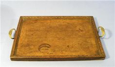 A wonderful  Edwardian St Dunstans oak butlers / serving tray  St Dunstans was established in 1915 to provide help for all blind and visually impaired ex-Service men and women – whether blinded in action, or through accident, disease or old age.   Solid oak serving surface  Lovely moulded decorative rail
