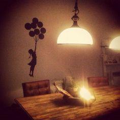 Banksy Wall Art, Table Lamp, Lighting, Home Decor, Table Lamps, Decoration Home, Room Decor, Lights, Home Interior Design