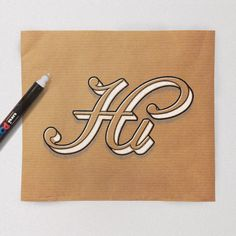 Hand-Lettering on Kraft Paper by James Lewis