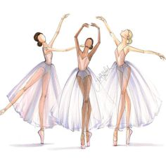Dancer Study Trio, sketch by Holly Nichols.