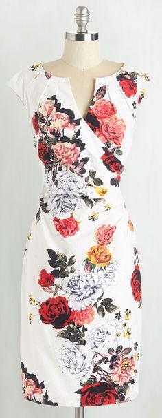 floral wrap front dress