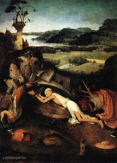 Schilderij Hieronymus in gebed