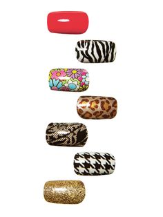Made of actual lacquer and top coat,  Sally Hansen Nail Polish Strips, $10, can be pressed on in a pinch sans smudging (decals mean no dry time) and last 10 days. Plus, they come in 24 trendy styles.