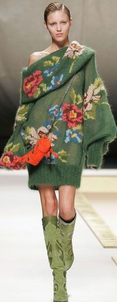 Kenzo ♥✤ | Keep the Glamour | BeStayBeautiful. Actually don't care much for the sweater, but the boots are fantastic!