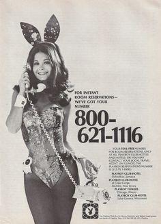 Playboy Club Hotels advertisement, 1974.