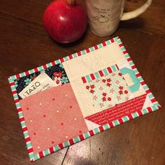 I've got a new holiday mug rug pattern available! It's called The Christmas Pocket Mug Rug and it will make the perfect holiday gift. Plastic Canvas Tissue Boxes, Plastic Canvas Patterns, Mug Rug Patterns, Quilt Patterns, Sewing Patterns, Quilting Projects, Sewing Projects, Small Quilt Projects, Quilting Ideas