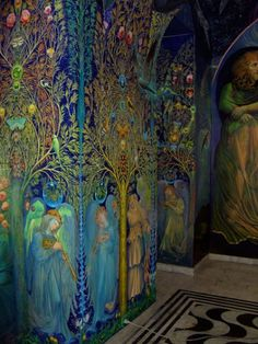 Ernst Fuchs' Apocalypse Chapel in Klagenfurt, GE. Completed 2010.  Amazing color, and gorgeous iconography