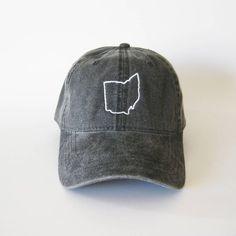 40e39c9d45c10 Ohio State Map Embroidered Cap baseball cap dad cap ohio map state cap  america state hat ohio hat