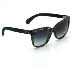 5bc4782b9a1 Chanel 5343 Signature Square Sunglasses Green Frame with Gray Gradient  Lenses  CHANEL  Square Chanel