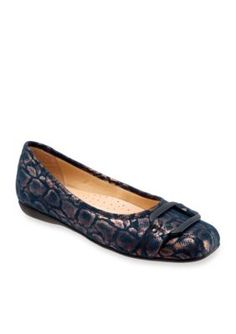 Trotters Navy Suede Sizzle Ballet Flat