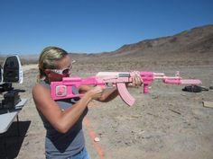 A pink AK-47? Yes, please!