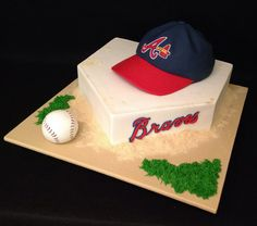 Atlanta Braves (Groom's Cake) by Dolce Design Cake Boutique, via Flickr Atlanta Braves Cake, Brave Cakes, Nothing Without You, 1st Boy Birthday, Birthday Cakes, Cupcake Cakes, Cupcakes, Save Yourself, Wedding Planning