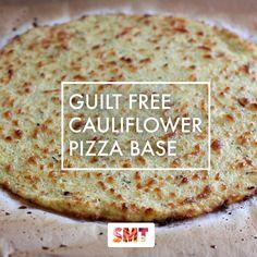 Guilt Free Cauliflower Pizza Base // www.skinnymetea.com.au