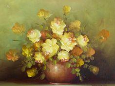 Robert Cox pintura Vintage OOAK arte pintura por BiminiCricket