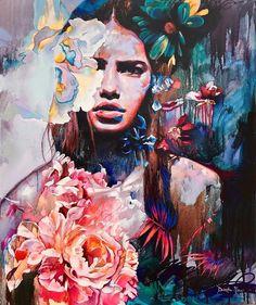 """Metamorphosis"" 30x36 original oil painting✨ This piece could be yours!!💓🌺 DM/email me... #dimitramilanart"