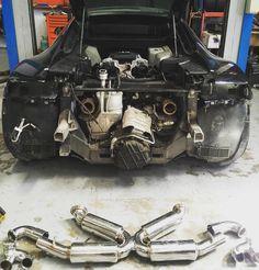 R8 V8 Fabspeed Sport exhaust installation! #carpornracing #audi #r8 #fabspeed @fabspeed_motorsport by hailtothe_king