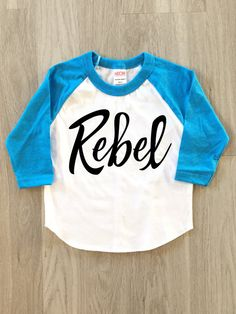 Rebel Raglan Tee  baby boy or girl clothes by 8thWonderOutfitters