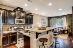 Notice all the recessed lighting. that's included! Dream Kitchens, Beautiful Kitchens, Home Kitchens, Kitchen Dining, Kitchen Decor, New House Plans, New Homes For Sale, Remodels, House Rooms