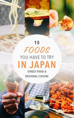 A foodie bucket list of food to try in Japan, from local cuisine to Japanese street food. It's more than just sushi!