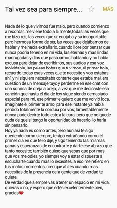 Discover recipes, home ideas, style inspiration and other ideas to try. Love Phrases, Love Words, Sad Love Quotes, Life Quotes, Ex Amor, Tumblr Love, Love Text, Love Messages, Spanish Quotes