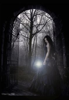 Gothic artwork -- love the dagger!