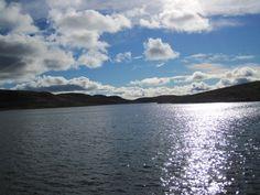 Sun shining on the water