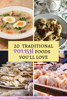 20 Best Traditional Polish Foods You& Love Greek Recipes, Italian Recipes, Soup Recipes, Dinner Recipes, Cooking Recipes, Polish Food Recipes, French Recipes, Polish Food Traditional, Traditional Brazilian Food