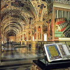Sala sistina, antica sede della Biblioteca Apostolica Vaticana