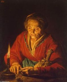 Old Woman with a Candle - (Matthias Stom)