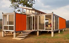 Orange Storage Containers Converted to Modern Home