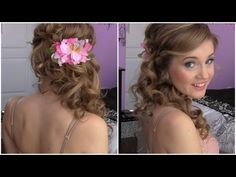 Don't forget to subscribe! http://www.youtube.com/subscription_center?add_user=makeupatmidnight    This is a great, elegant yet easy way to style long hair for prom or for a wedding (or any other formal occasion) if you want to show off hair length rather than going for a classic updo.    Inspiration:  http://pinterest.com/pin/257197828691864166/  htt...
