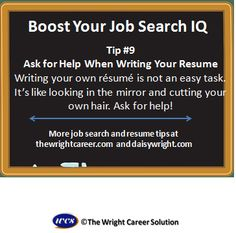 Ask for help when writing your resume