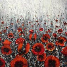 The Golden One Original by Robert Cox #art #artist #artwork #original #oils #impasto #paletteknife #poppy #poppies #poppyfield #flowers #floral #wildflowers #meadow #hedgerow #TowerPoppies #toweroflondon #installation #remembrance #respect #pride #ArmedForcesDay #WW1 #WW2 #ArmisticeDay #poppyday #gallery #pocklington #yorkshire #littleacorns