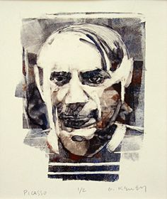 Picasso - a monotype print by Gary Kelley