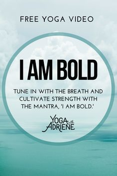 Tune in with the breath and cultivate strength with the mantra, I Am Bold. Use this practice to focus on process over product. Practice presence as you move through your yoga asana. Be bold, own this time for yourself. Have fun. Wellness Fitness, Health And Wellness, Free Yoga Videos, Yoga With Adriene, Yoga Meditation, Yoga Mantras, Be Bold, Love Is Free, Pilates Workout