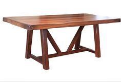 """Granville 79"""" Dining Table with Wood Base - Parota"""