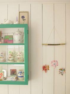 DIY/Medicine cabinet repurposed for display.