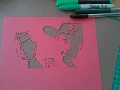 Rick Grimes from The Walking Dead. Papercut by Mrs Scuffer's Handcut  handcut.yolasite.com