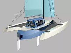 Stitch and Glue Trimarans Lunada Design.
