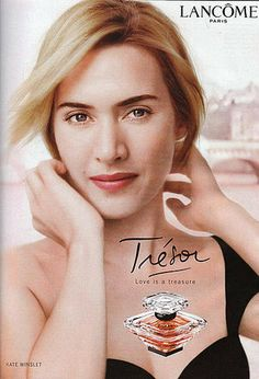 Kate Winslet - Tresor perfume by Lancome Tresor Perfume, Top Perfumes, Fragrances, Lancome Paris, Kate Winslet, Vintage Ads, Loreal, Lady, Campaign