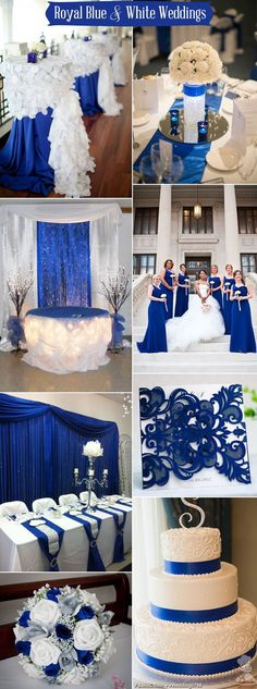 royal blue and white wedding color ideas
