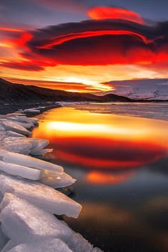 Artic Sunset. See more at http://glamshelf.com