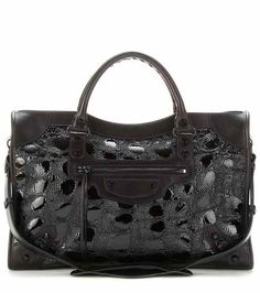 Classic City embossed patent leather tote | Balenciaga