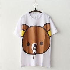 New Fashion Women Korean loose cute Rilakkuma Print  T-shirt Female Top MEDIUM $13