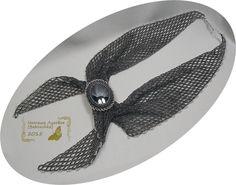 """Серый """"пионерский галстук"""" с гематитом   biser.info - всё о бисере и бисерном творчестве"""