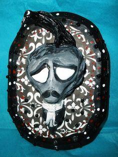 Edgar Allan Poe the Raven by auntydonut on Etsy, $50.00
