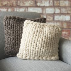 Barnstaple Cushion - Lauren Aston Designs. Hand knitted chunky cushions