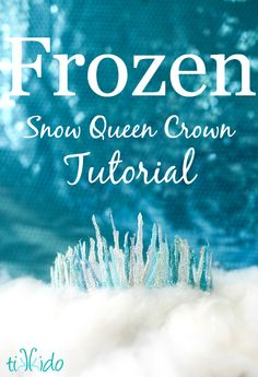 Looking for a beautiful, EASY crown for your little Elsa this Halloween?  Check out my tutorial for this headpiece, made with a glue gun and glitter!
