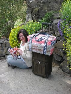 This pattern bundle includes the new trolley duffle pattern, clutch and cases pattern, and my faster luggage tags pattern. Use my 3 most popular Sewing Tutorials, Sewing Patterns, Duffle Bag Patterns, Rolling Bag, Ballet, Lining Fabric, Bag Making, Travel Bags, Purses And Bags